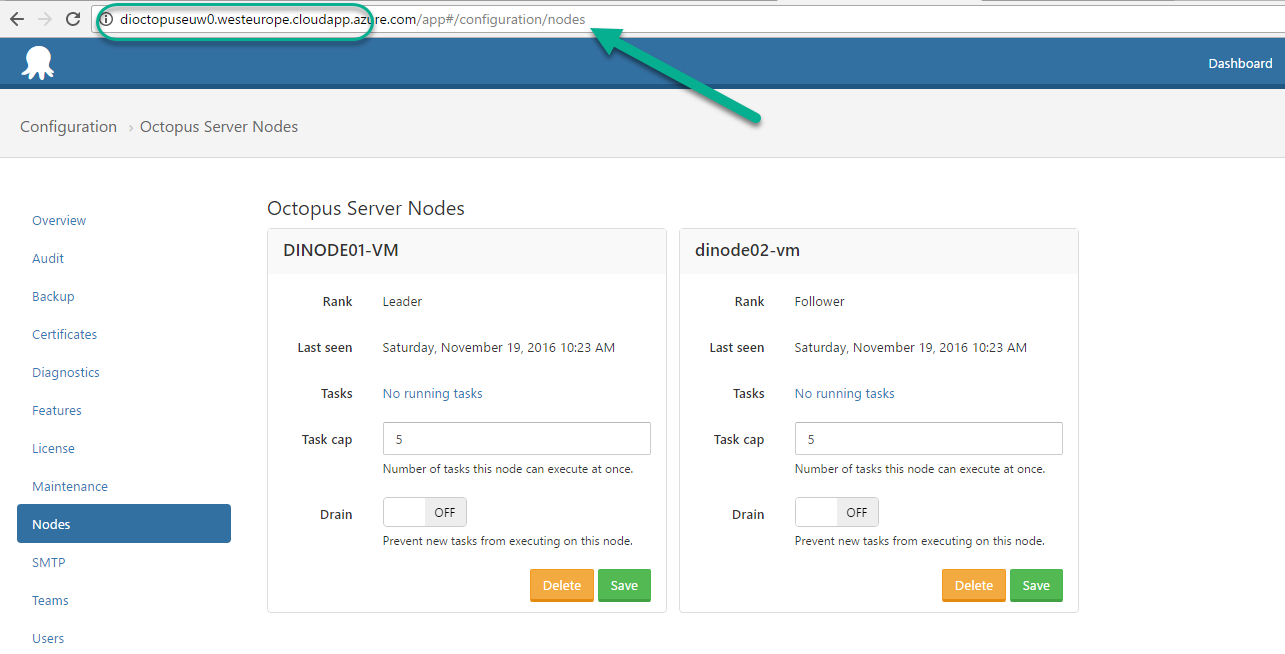 how to build octopus deploy in microsoft azure high availability Connection Mapping note if the node is not up and running the main reason could be network mapping may not be happened please restart the vm and redeploy the arm template